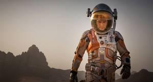 O Matt Damon σε στιγμιότυπο από την ταινία «The Martian»