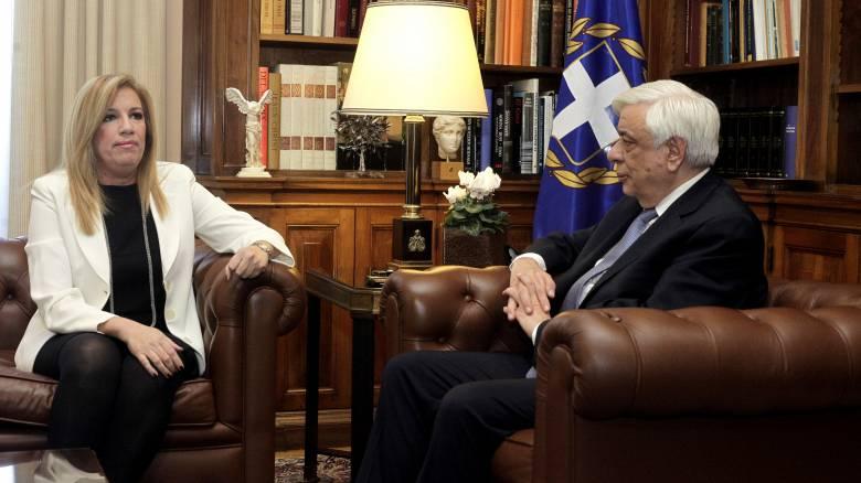 Συνάντηση πολιτικών αρχηγών για το προσφυγικό ζήτησε η Γεννηματά από τον Παυλόπουλο