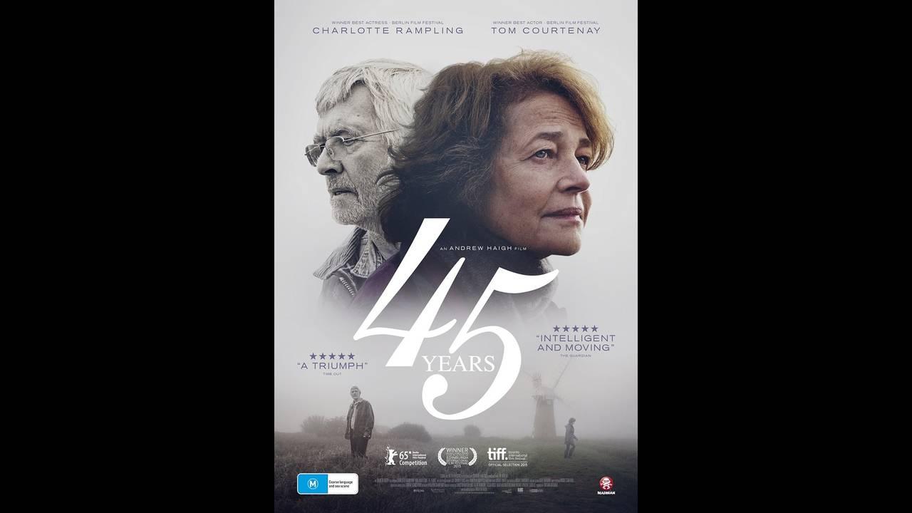 Η Σαρλότ Ράμπλινγκ στο poster της ταινίας 45 Years