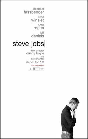 O Μάικλ Φασμπέντερ στο poster της ταινίας Steve Jobs