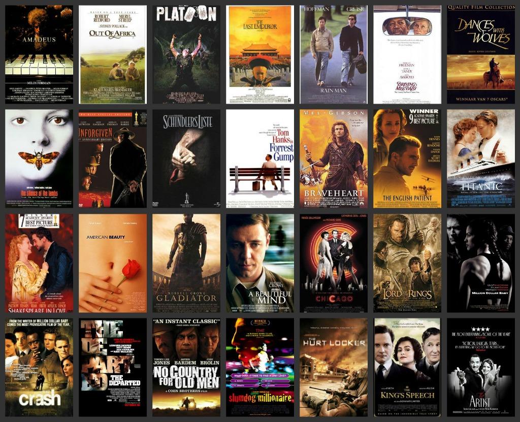 Oscars collage