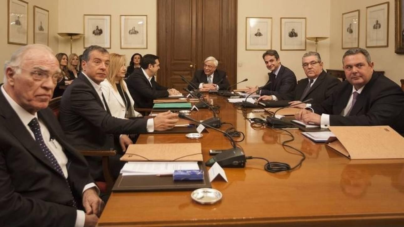 Το ανακοινωθέν της προεδρίας της σύσκεψης των πολιτικών αρχηγών για το προσφυγικό