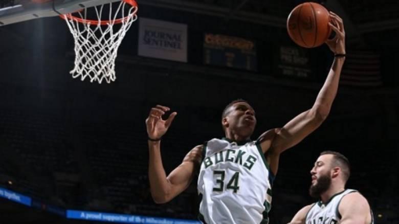 Άγγιξε το triple double ο Γιάννης Αντετοκούνμπο σε μια ακόμη νίκη του Μιλγουόκι στο NBA