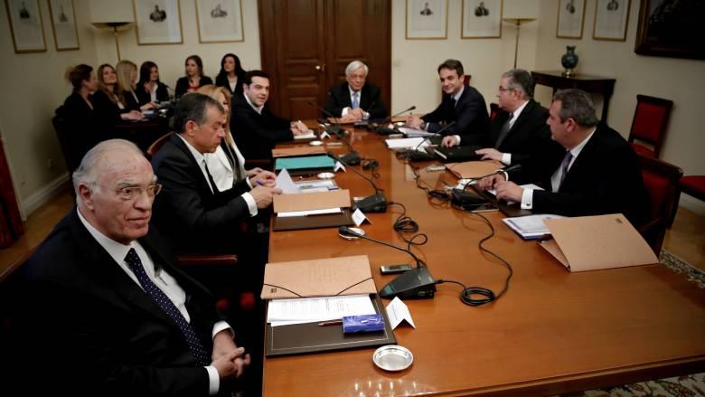 Τι συζητήθηκε στη σύσκεψη των πολιτικών αρχηγών