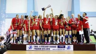 Ο Ολυμπιακός κατέκτησε το Κύπελλο Ελλάδας γυναικών στο βόλεϊ κερδίζοντας στον τελικό 3-0 την ΑΕΚ
