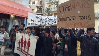 Πορεία Αφγανών προς την πλατεία Συντάγματος