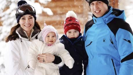 Για σκι στις γαλλικές Άλπεις με την πριγκιπική οικογένεια της Βρετανίας