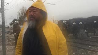 Επίσκεψη του Ai Weiwei στην Ειδομένη (pics)