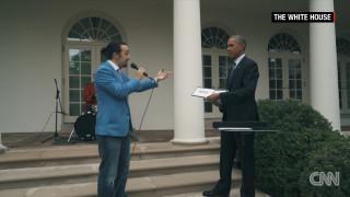 Ο Ομπάμα γίνεται viral με τον Λιν Μάνιουελ να «ραπάρει»