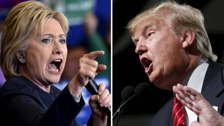 Ακάθεκτοι για τη μεταξύ τους κόντρα οι... ανεπιθύμητοι Κλίντον–Τραμπ
