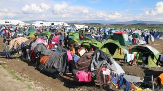 Διαμαρτυρία Σύρων και Κούρδων Γεζίντι στην Ειδομένη για τα κλειστά σύνορα