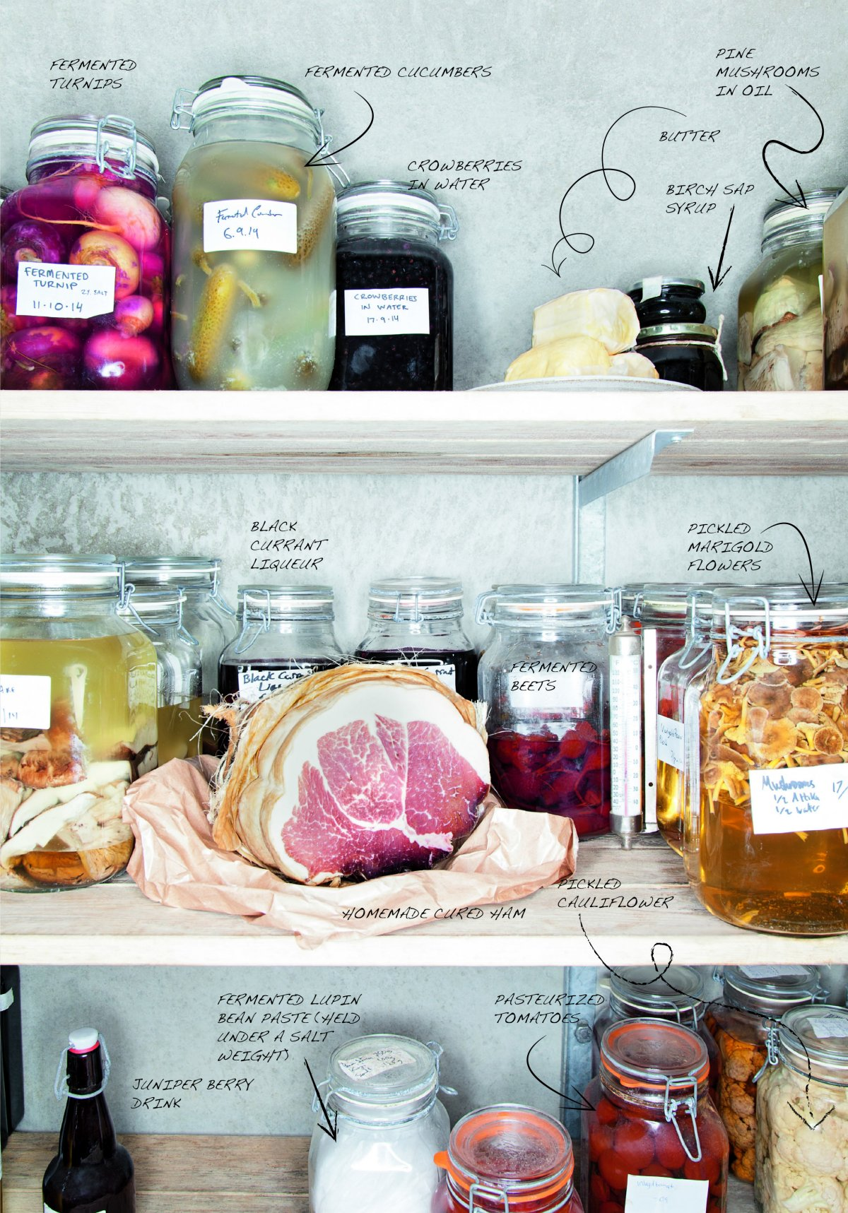 magnus nilsson is the head chef at fviken located in the far northwest of sweden on the largest privately owned estate in the country his fridge is full of fermented vegetables including turnips and cucumbers you can also help yourself to h