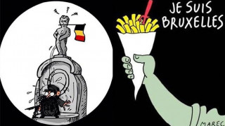 O Tεντεν δακρύζει στα σκίτσα που γίνονται διαδικτυακά σύμβολα συμπαράστασης στην πόλη των Βρυξελλών