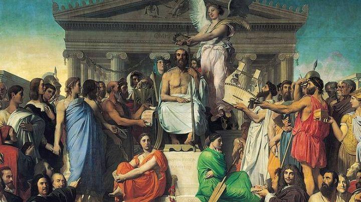 Jean Auguste Dominique Ingres Apotheosis of Homer 1827