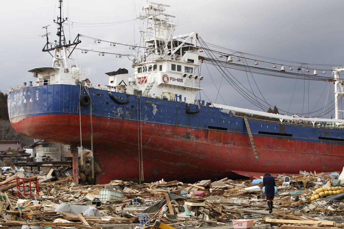 Japan tsunami boat