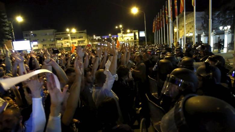 ΠΓΔΜ: Νέα επεισοδιακή διαδήλωση κατά Ιβάνοφ