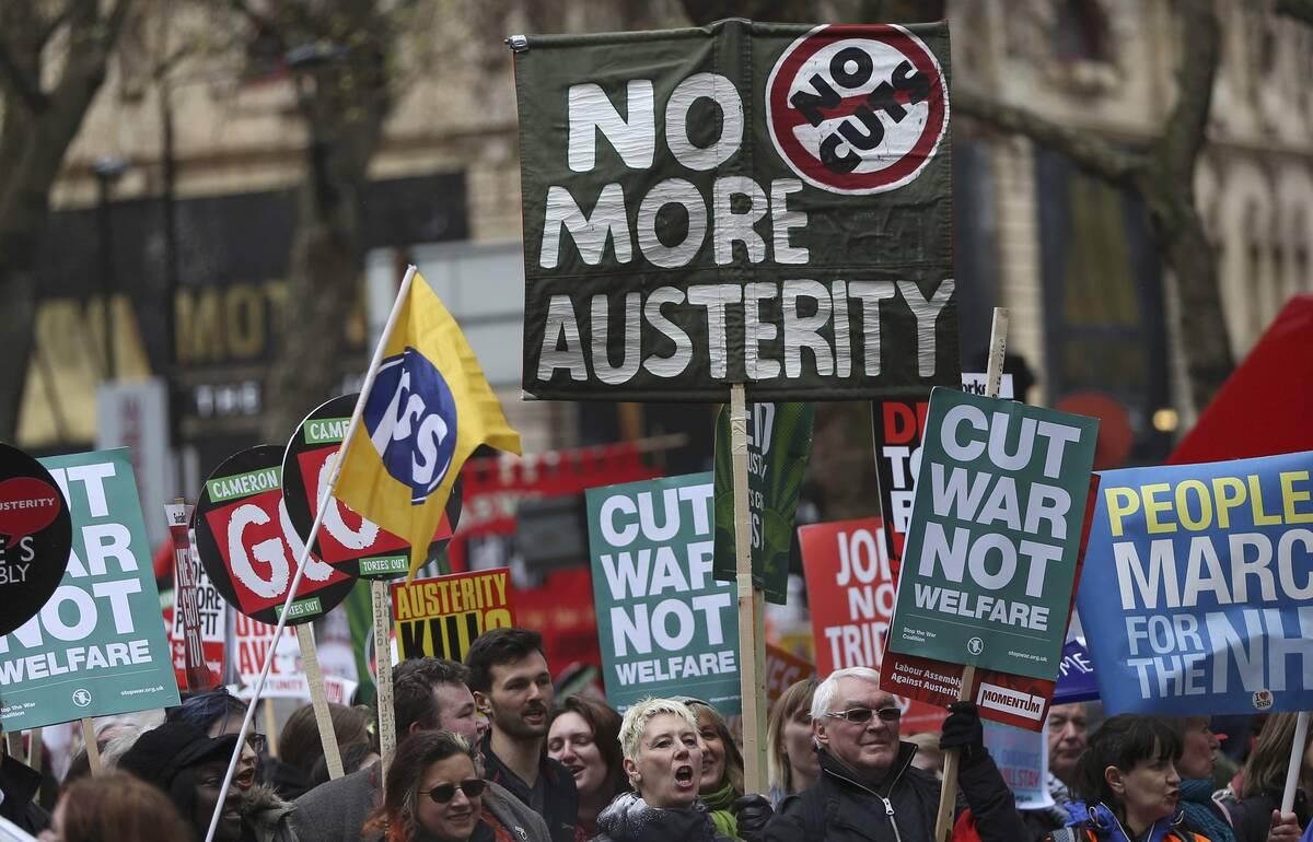 90 anti austerity 2016 04 16T162557Z 416146706 LR1EC4G19MWQL RTRMADP 3 BRITAIN PROTEST