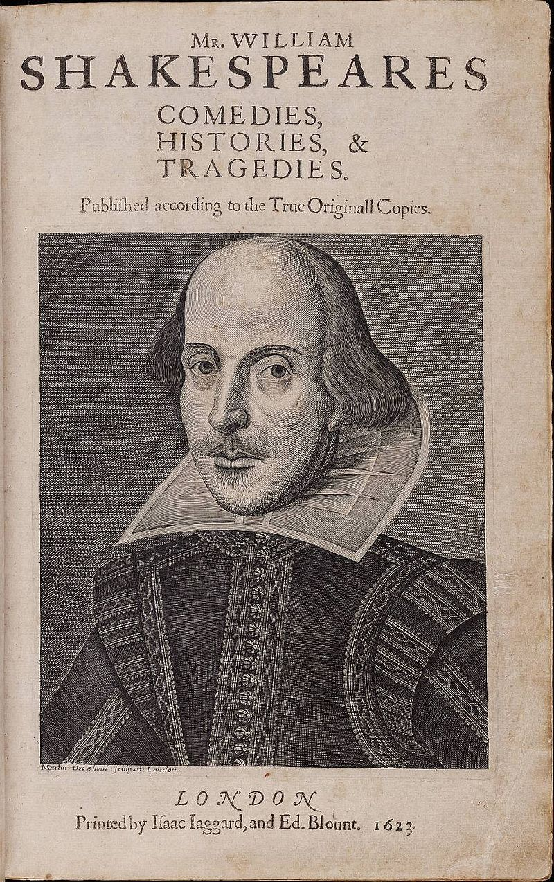 800px Title page William Shakespeares First Folio 1623
