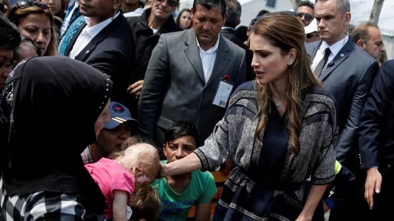 Στη Μυτιλήνη η βασίλισσα Ράνια