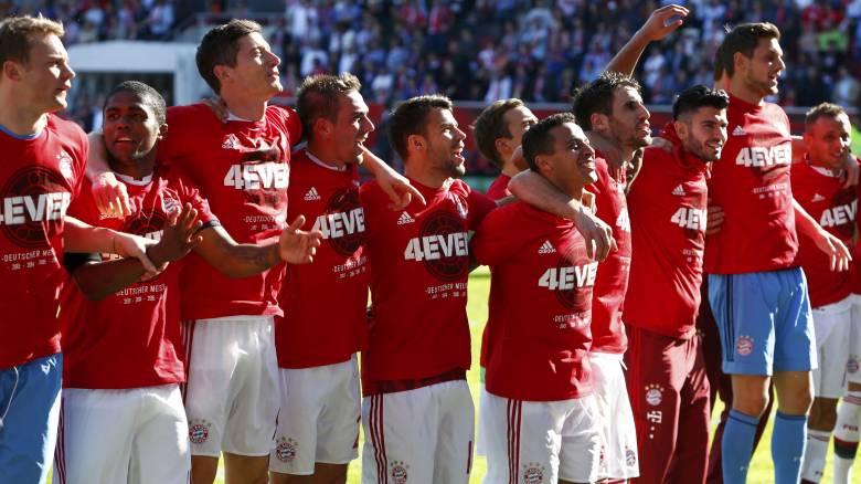 Για 4η χρονιά η Μπάγερν αναδείχθηκε πρωταθλήτρια Γερμανίας