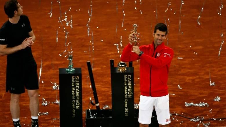 Επιστροφή στις νίκες για τον Τζόκοβιτς στο τουρνουά της Μαδρίτης, επί του Μάρεϊ