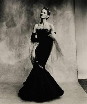 """Irving Penn, """"Rochas Mermaid Dress (Lisa Fonssagrives-Penn)"""" Paris, 1950."""