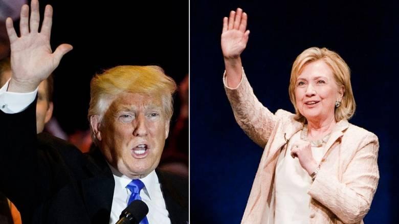Εκλογές ΗΠΑ: Στήθος με στήθος Κλίντον και Τραμπ σε δημοσκόπηση