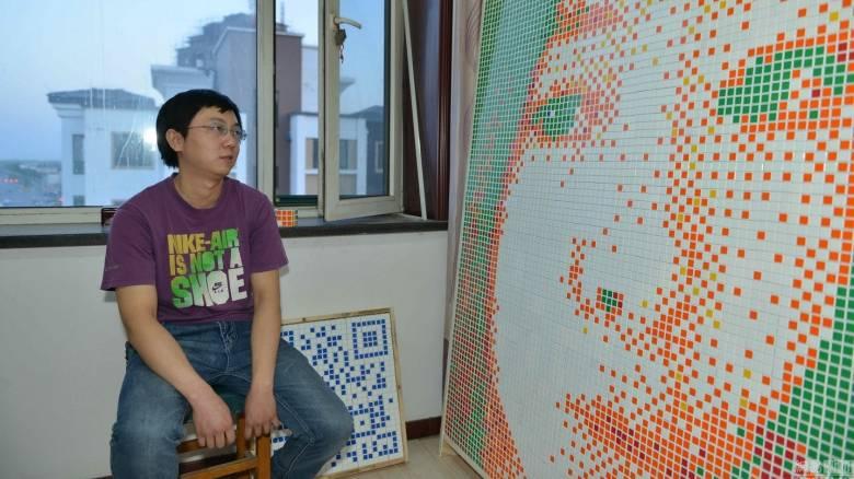 Κίνα: Άνδρας εκδήλωσε την αγάπη του με 840 κύβους του Ρούμπικ