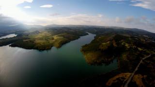 Αεροφωτογραφίες από τη λίμνη του Μαραθώνα