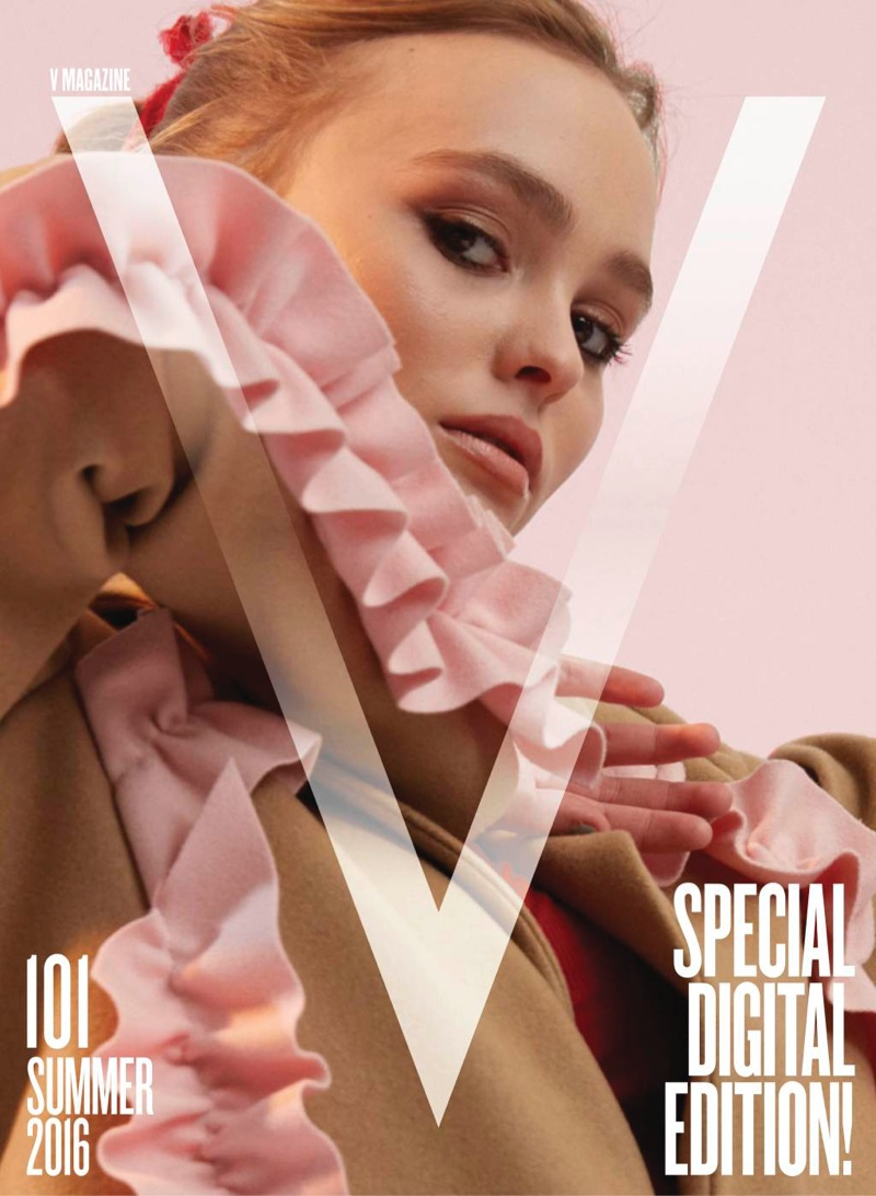 Lily Rose Depp V Magazine Summer 2016 Online Cover Photos01