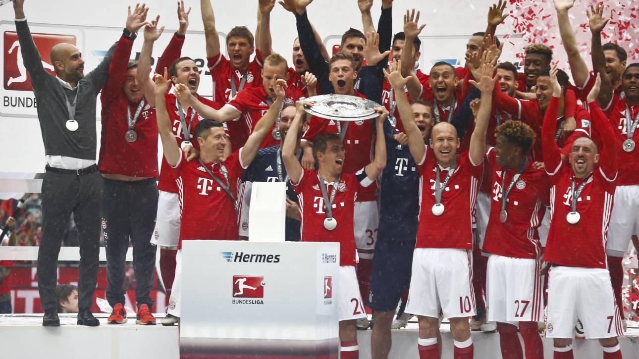 Η Μπάγερν πανηγύρισε και τυπικά την κατάκτηση του πρωταθλήματος Γερμανίας