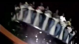 Σκηνές τρόμου σε λούνα παρκ στην Ινδία από αποκόλληση ρόδας