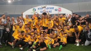 Η ΑΕΚ κέρδισε 2-1 τον Ολυμπιακό στον τελικό του Κυπέλλου