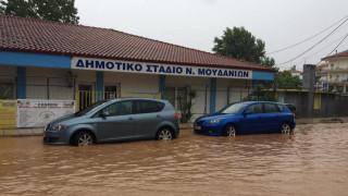 Πλημμύρες σε Μεσολόγγι και Πορταριά
