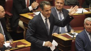 Ικανοποίηση στη ΝΔ από την παρουσία του Κ. Μητσοτάκη στη Βουλή