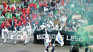 Eπεισόδια στις Βρυξέλλες στις διαδηλώσεις των συνδικάτων