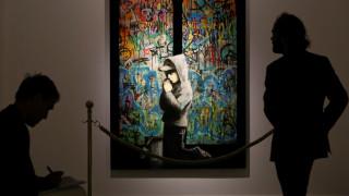 Πόλεμος, καπιταλισμός, ελευθερία: Ο Banksy έκανε «κατάληψη» στη Ρώμη