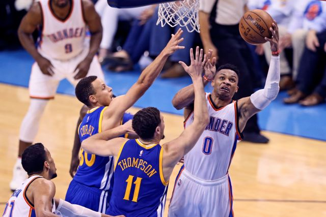 2016 05 25T035619Z 1653377926 NOCID RTRMADP 3 NBA PLAYOFFS GOLDEN STATE WARRIORS AT OKLAHOMA CITY THUNDER