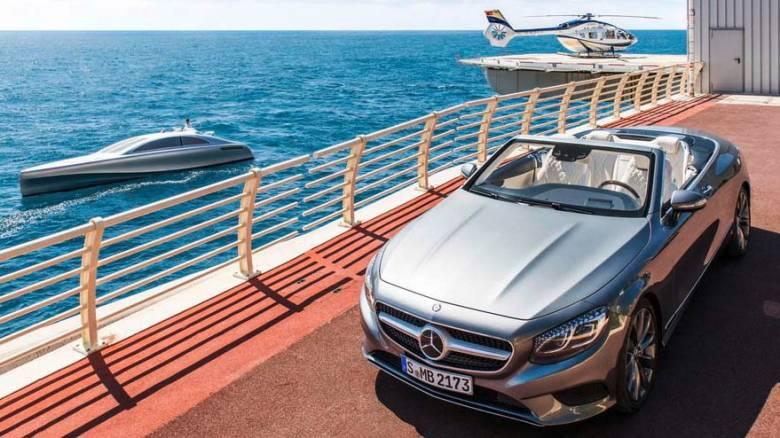 H Mercedes- Benz πέρα από τη στεριά δραστηριοποιείται σε θάλασσα και ουρανό