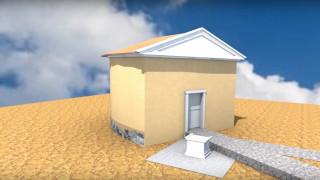 Τρισδιάστατη απεικόνιση του τάφου του Αριστοτέλη