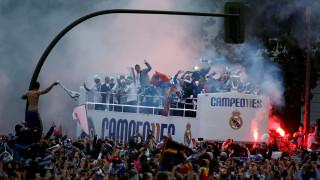 Υποδοχή ηρώων στους παίκτες της Ρεάλ Μαδρίτης με το 11ο τρόπαιο του Champions League