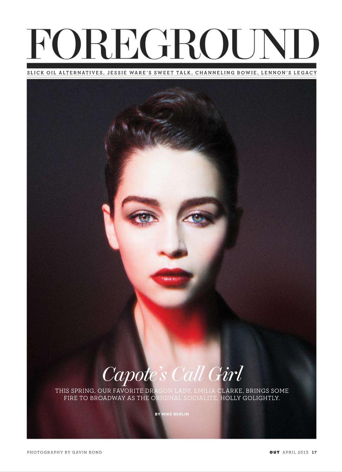Gavin Bond Emilia Clarke Out Magazine 2013 04 t02