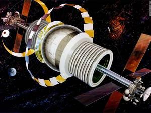 Η κυλινδρική αποικία στηρίζεται πάνω σε ένα τεχνητό μηχανισμό που εξουδετερώνει τη βαρύτητα.