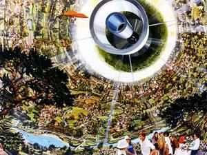 Η σφαίρα του Τζον Ντέσμοντ Μπέρναλ (John Desmond Bernal) παρέχει φως σε ένα κρυστάλλινο παλάτι.