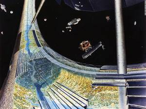 Ο Ο' Νέιλ παρουσίασε ένα προσχέδιο στη NASA όπου απεικονίζεται μια τεράστια διαστημική αποικία μέσα σε ένα μεγάλο κύλινδρο.