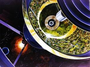 Το ηλιακό σύστημα τροφοδοτεί την αποικία με ζωή.
