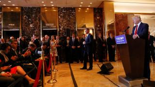 Ένταση και «γαλλικά» σε συνέντευξη Τύπου του Τραμπ
