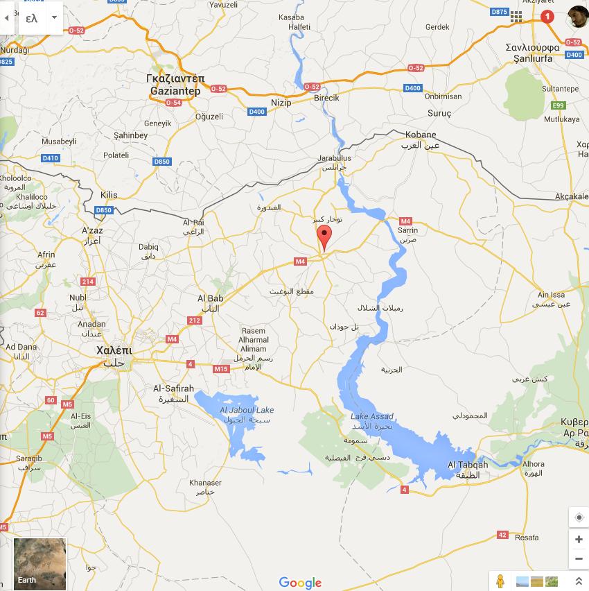 MAPS Ιεράπολη Συρίας Χάρτες Google