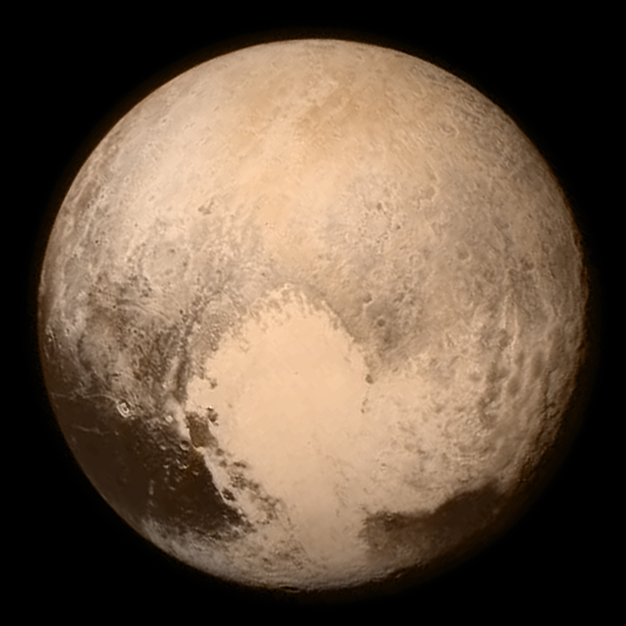Pluto by LORRI and Ralph 13 July 2015