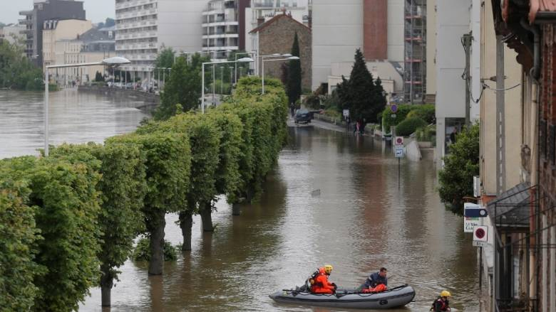 Παρίσι: Ελαφρά υποχώρηση της στάθμης του Σηκουάνα σήμερα το πρωί